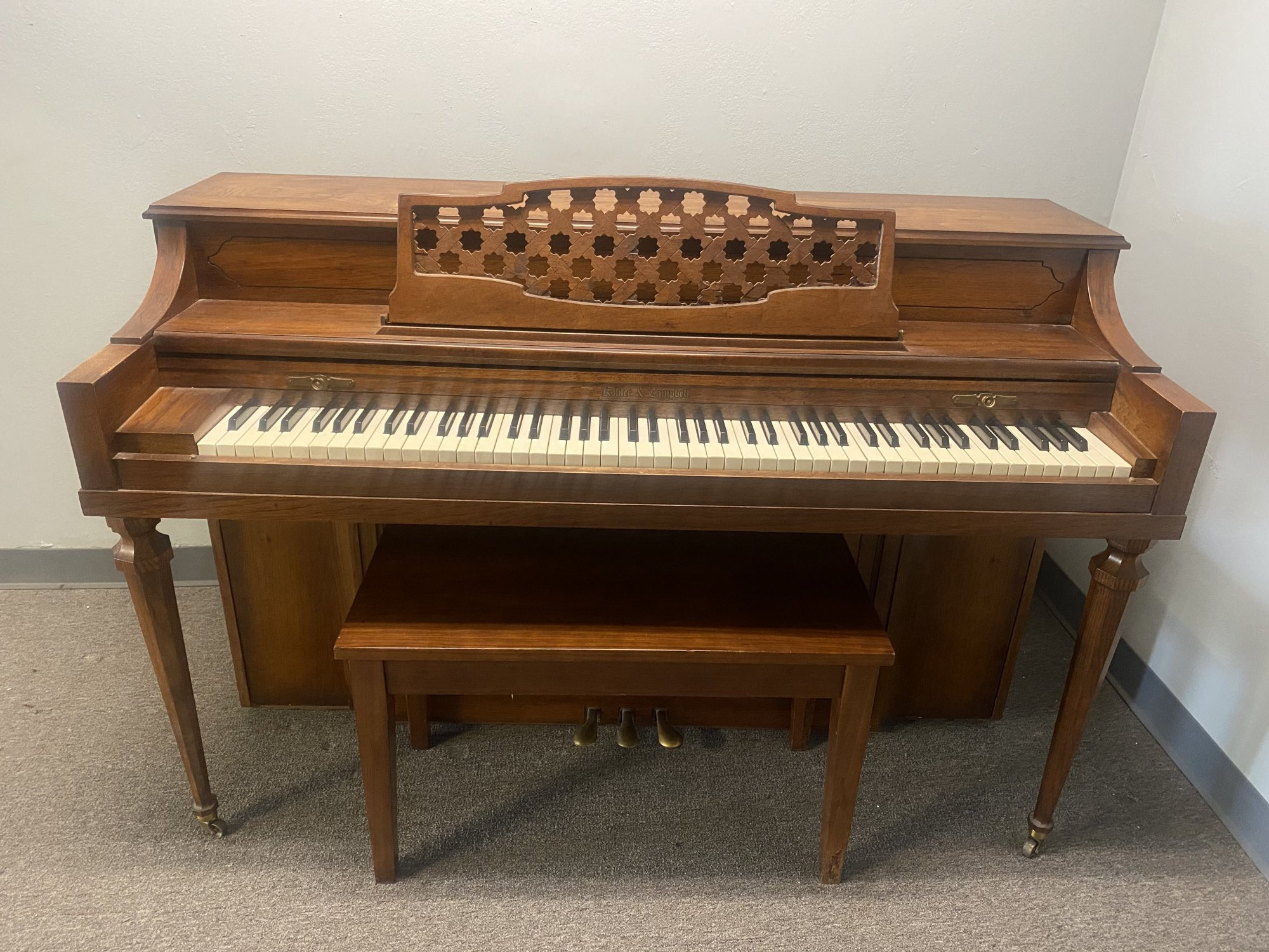Kohler and Campbell Spinet Pecan Used