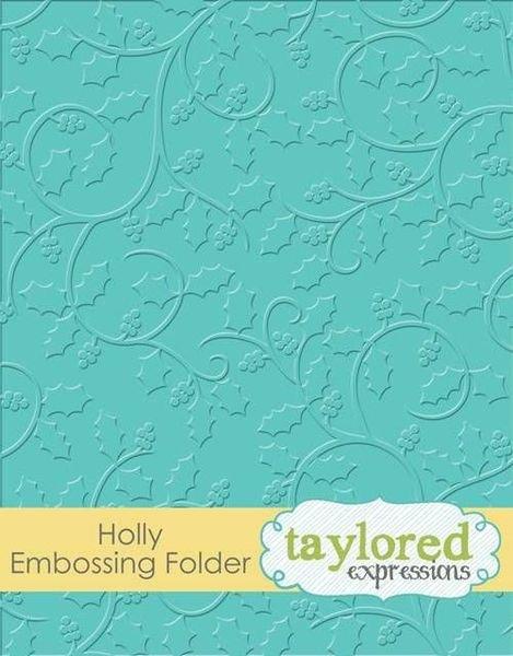 Holly Embossing Folder