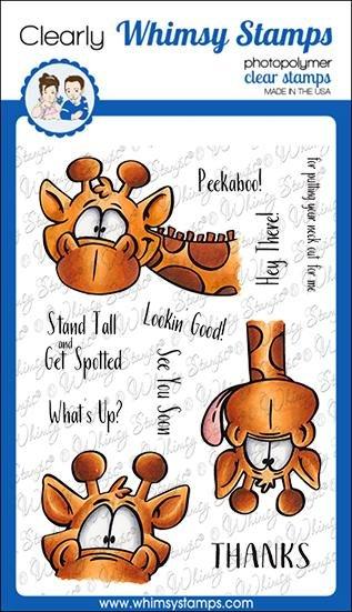 Giraffes Peeking Stamp set