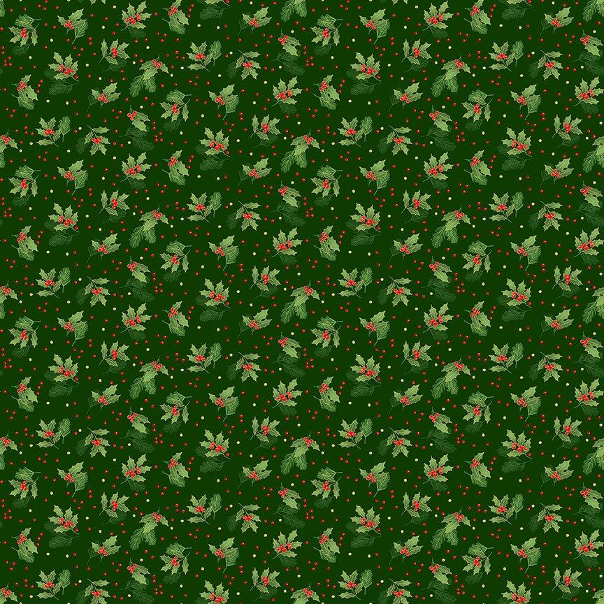Classic Foliage Holly Spray GREEN