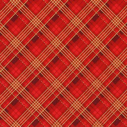 Winter's Grandeur 9 Plaid RED