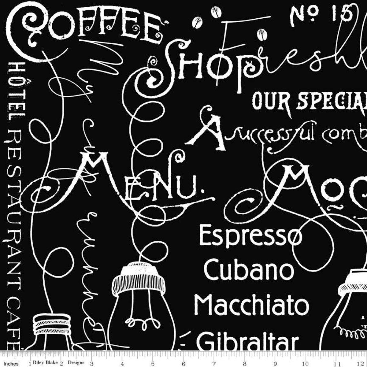 Coffee Chalk Cafe Blackboard BLACK