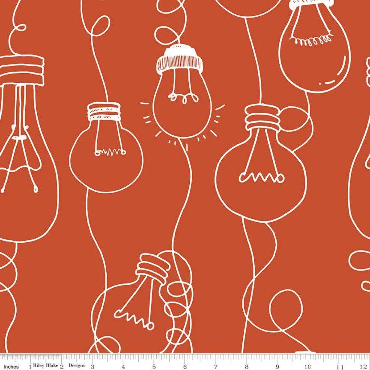 Coffee Chalk Bulbs RED