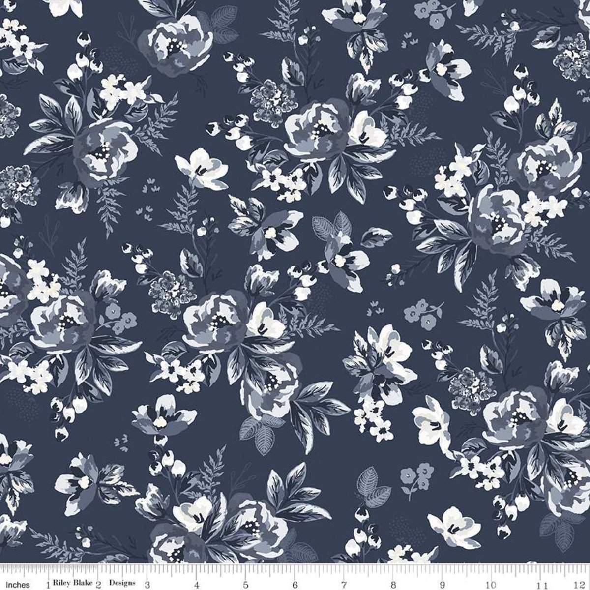 Gingham Foundry Floral NAVY