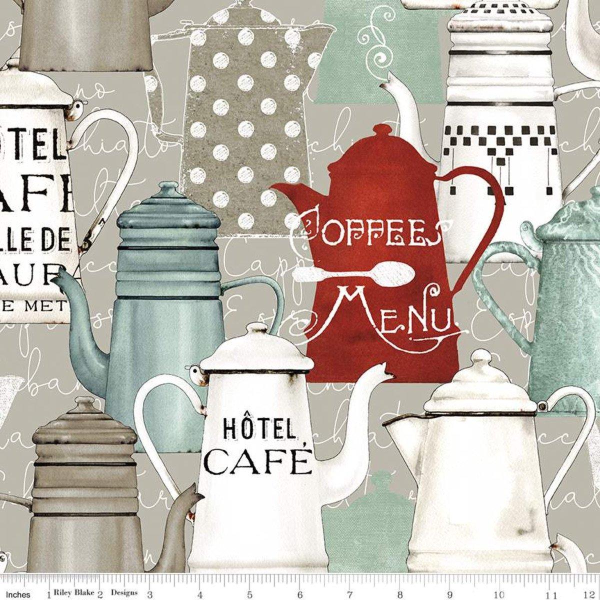Coffee Chalk Pots TAUPE