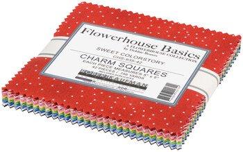 Charm Squares Flowerhouse Basics Sweet Colorstory