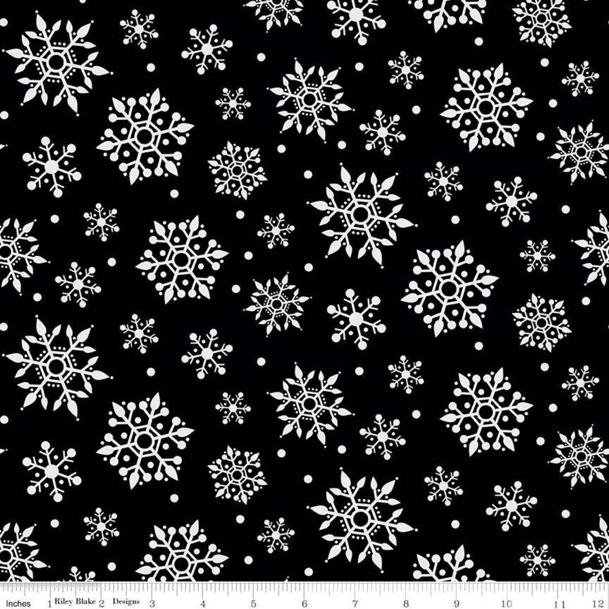 Gnome for Christmas Snowflakes BLACK