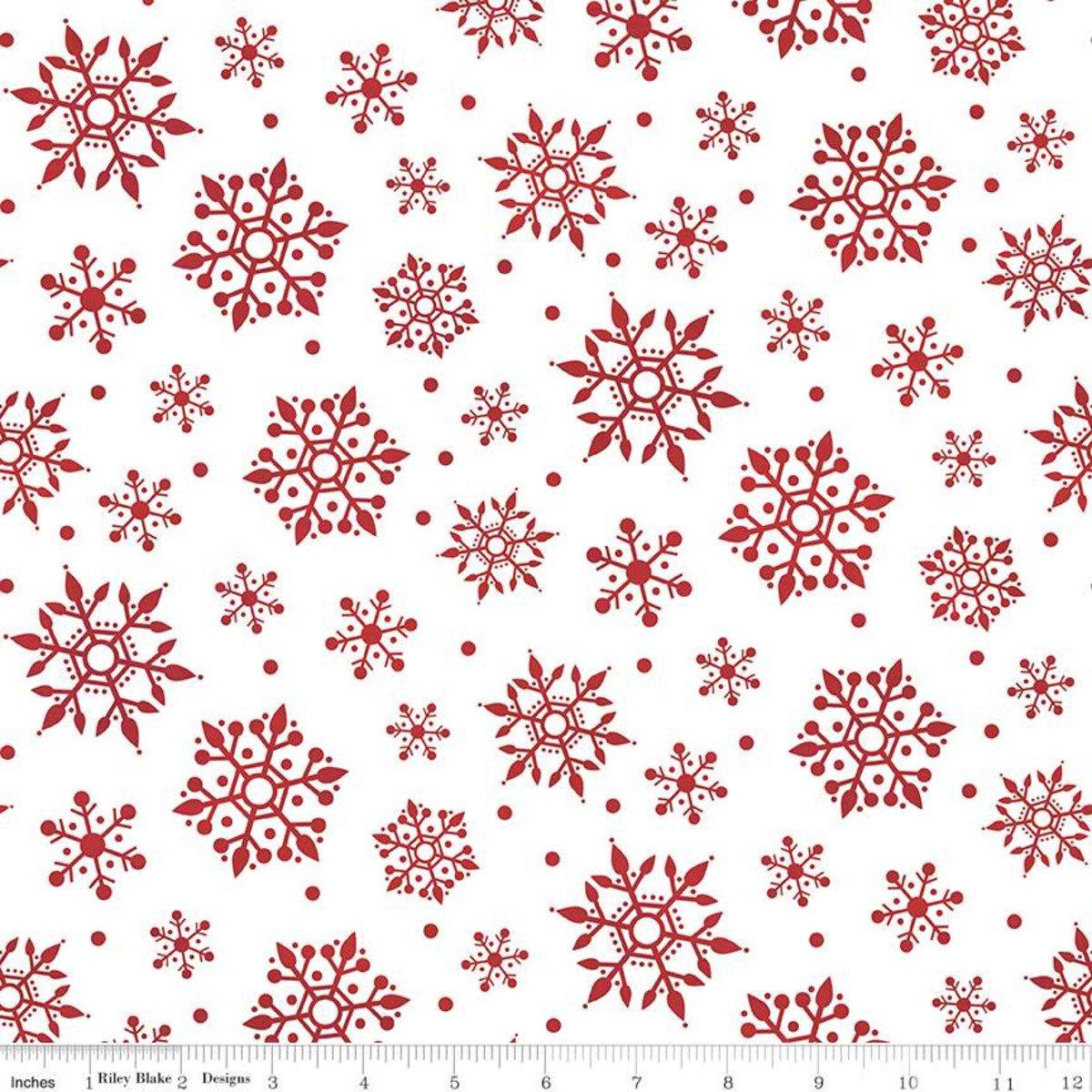 Gnome for Christmas Snowflakes WHITE