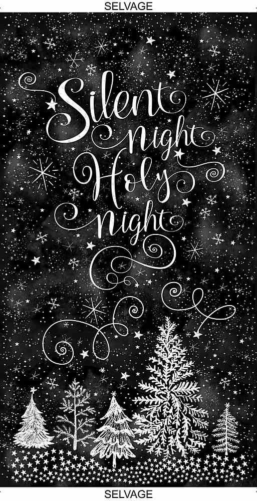 Silent Night Holy Night Panel BLACK