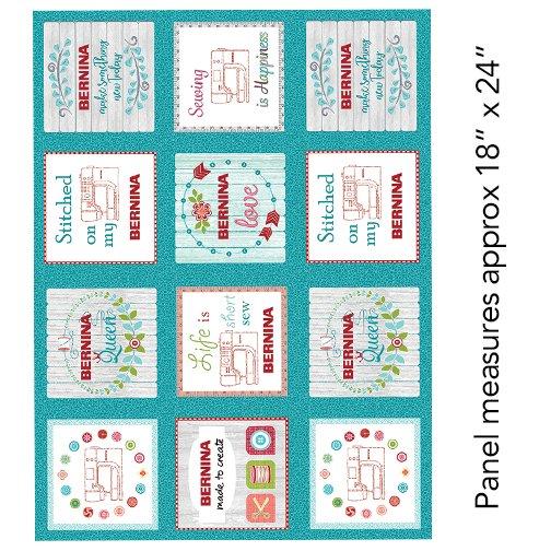 Bernina's - My Happy Place Fabric Panel