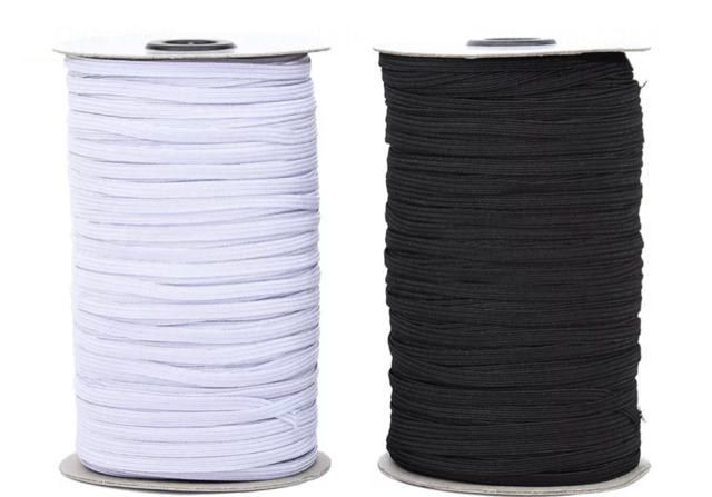 1/4 Elastic by the yard- White Only