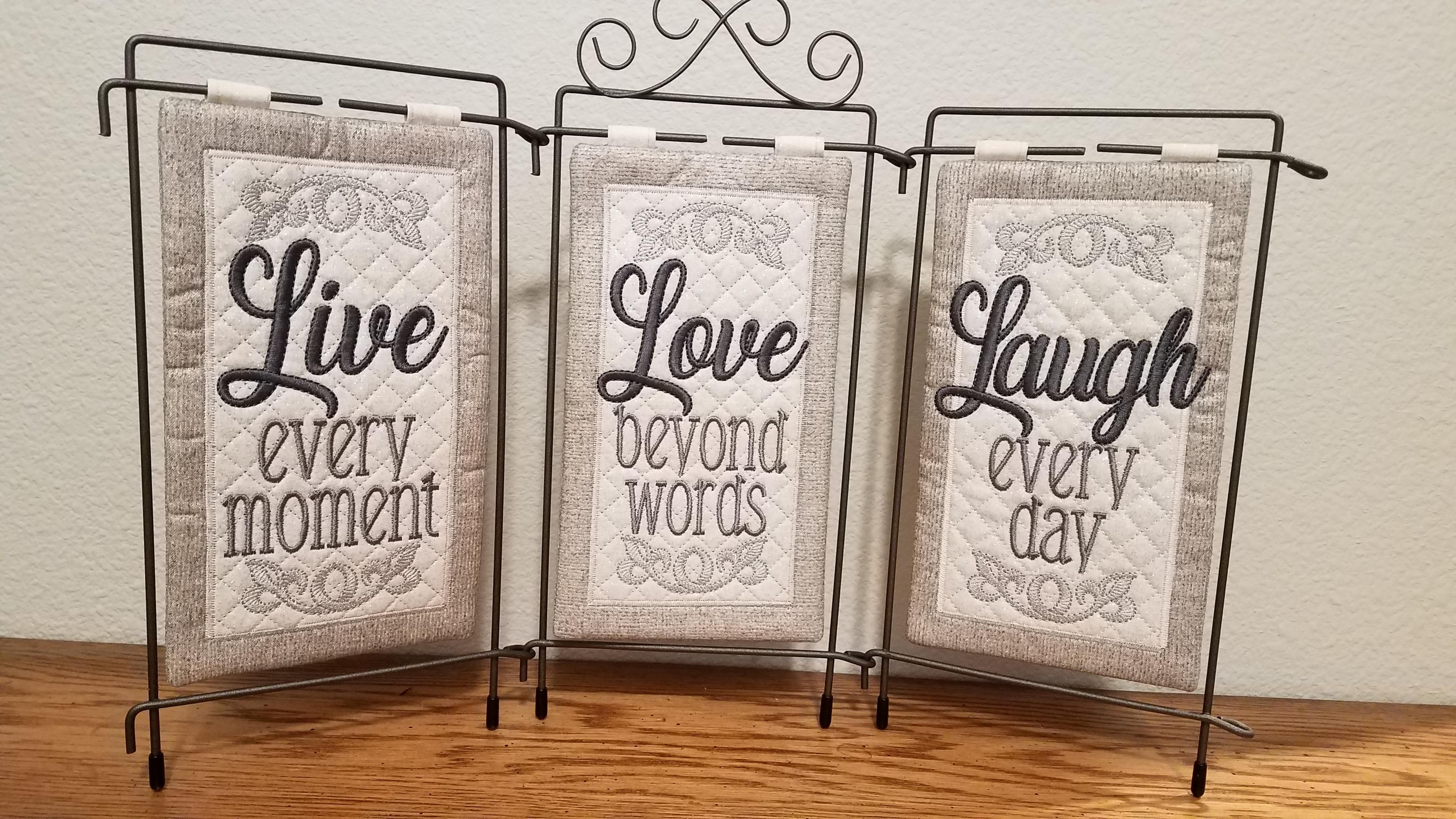 Live, Love, Laugh -Tri Pic Design