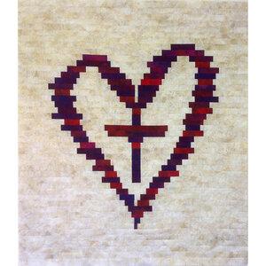 Cross Your Heart - Jelly Roll friendly scrap quilt