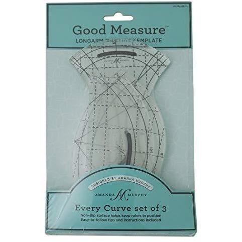 Every Curve, set of 3 Longarm Quilting Templates