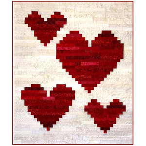 Four of Hearts - Jelly Roll friendly scrap quilt