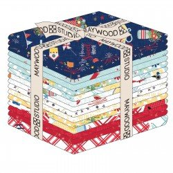 Red White and Bloom Fat Quarter Pack