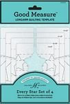 Every Star 4 pc set - Longarm Quilting Template