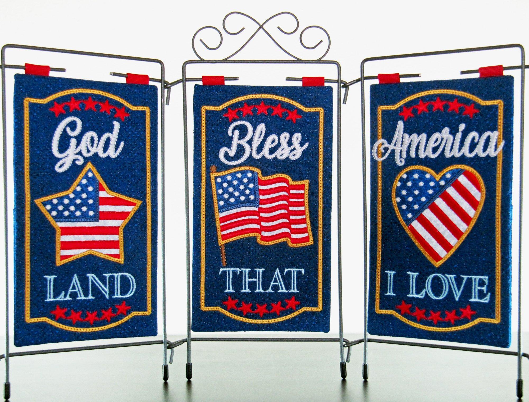 God Bless America - Tri Pic Design