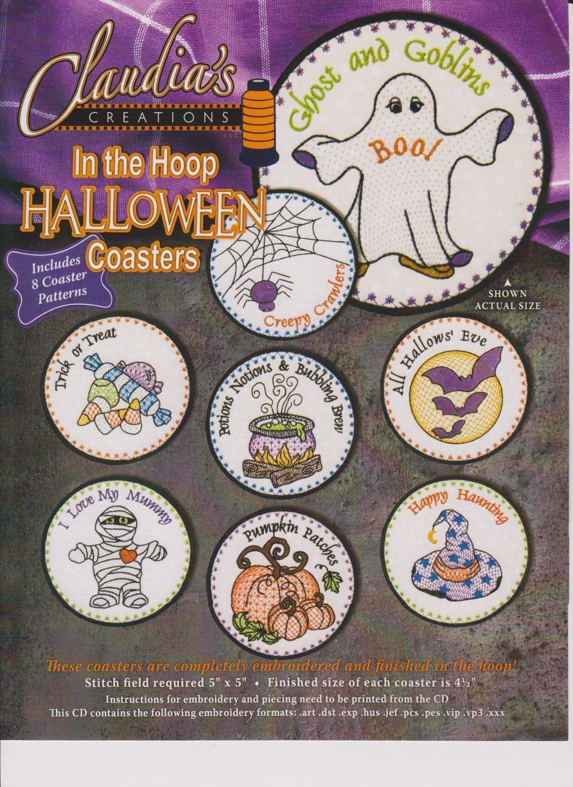 In the Hoop Halloween Coasters