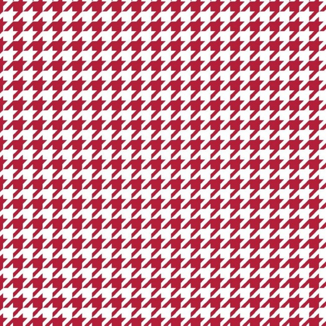 Houndstooth- Red and White