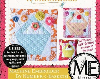 Machine Embroider by Number: Baskets