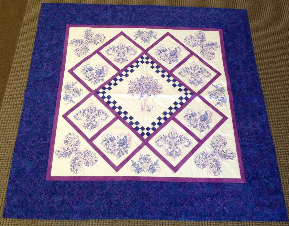 Tree of Life Quilt | Purple Batiks