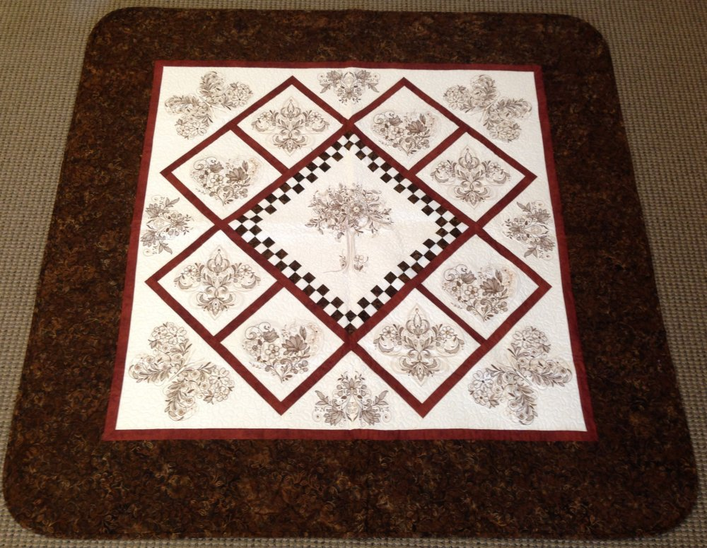 Tree of Life Quilt | Brown Batik