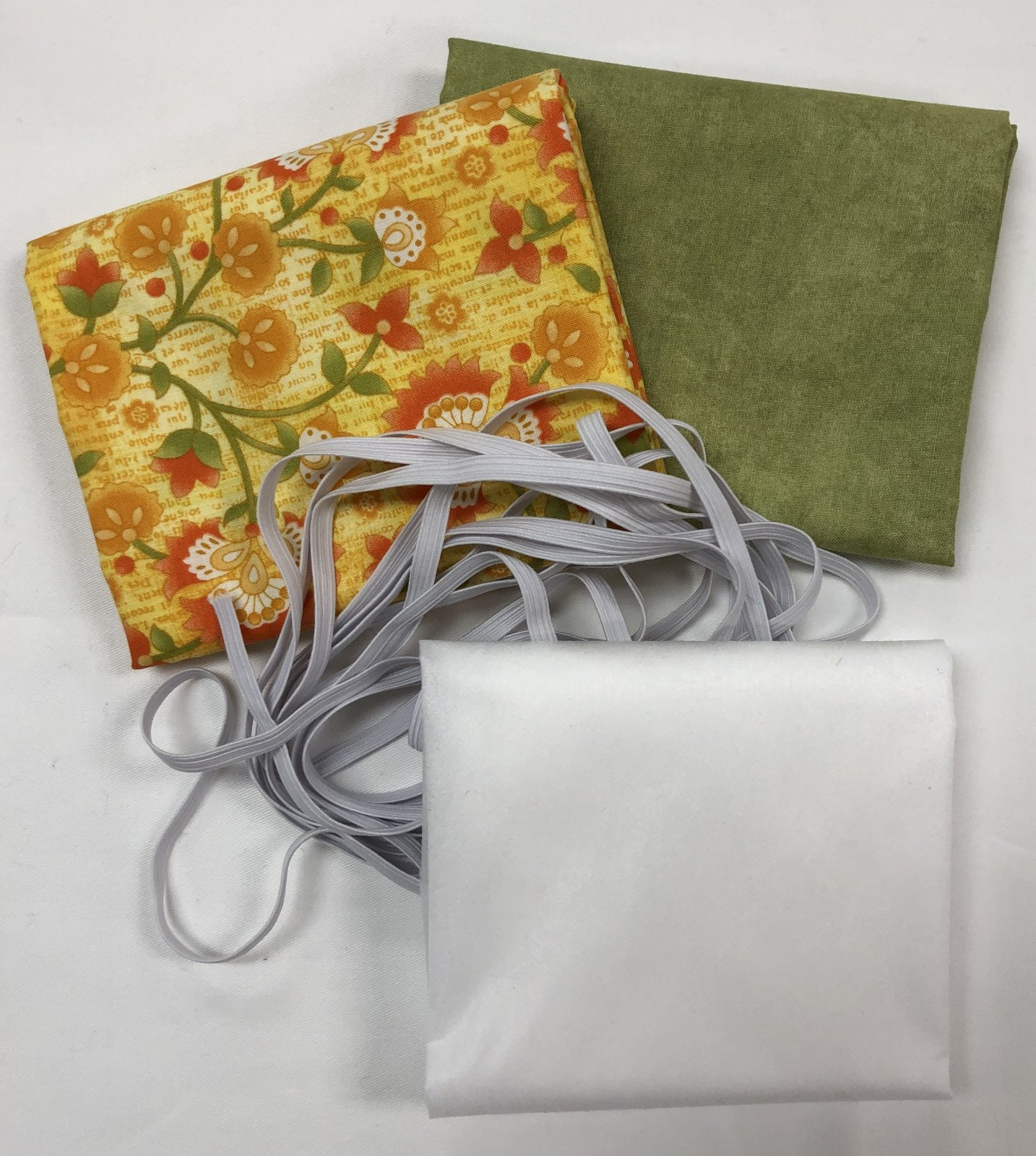 Mask Kit -Yellow Flowers with Green