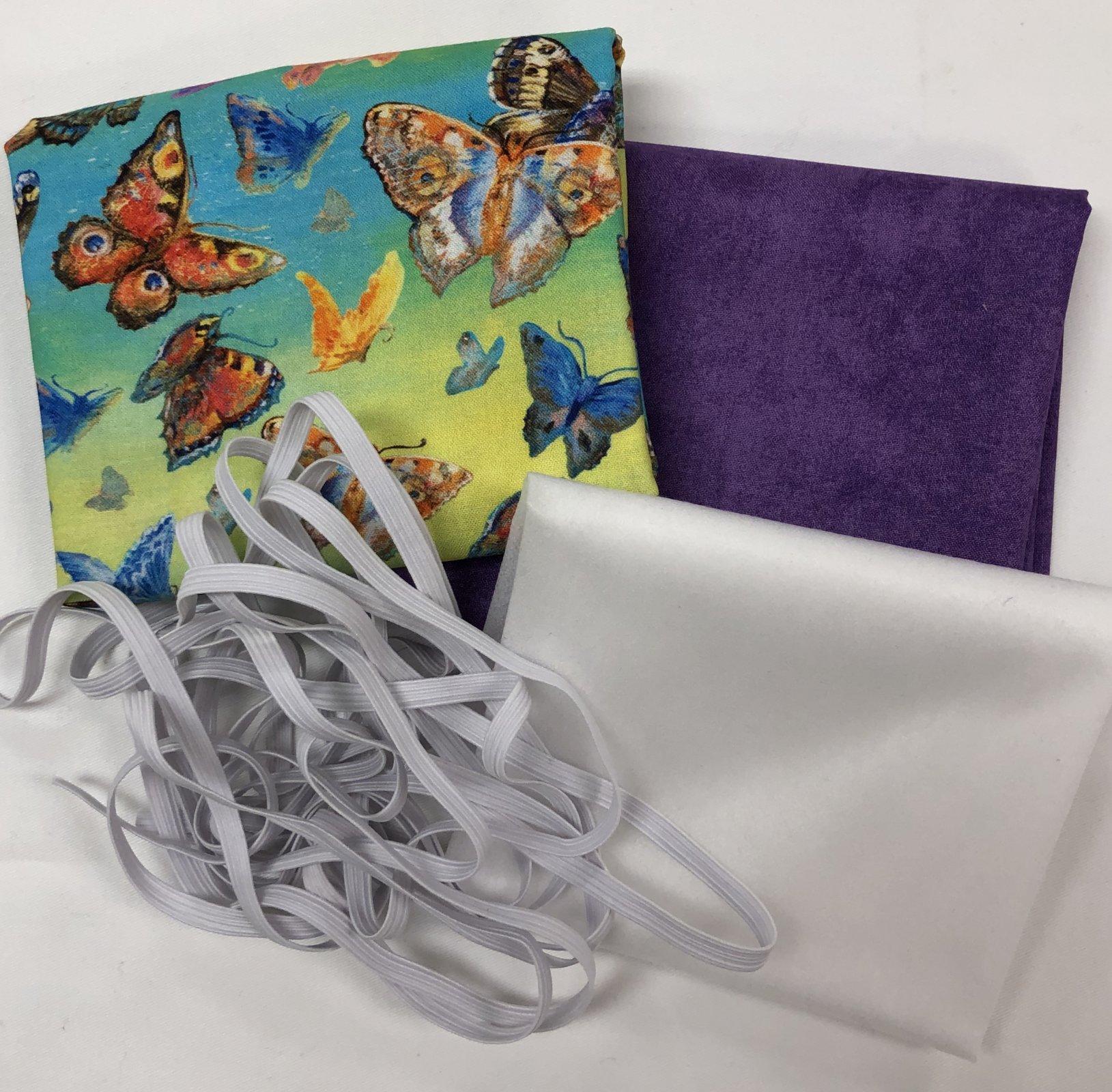 Mask Kit -Butterflies with Purple