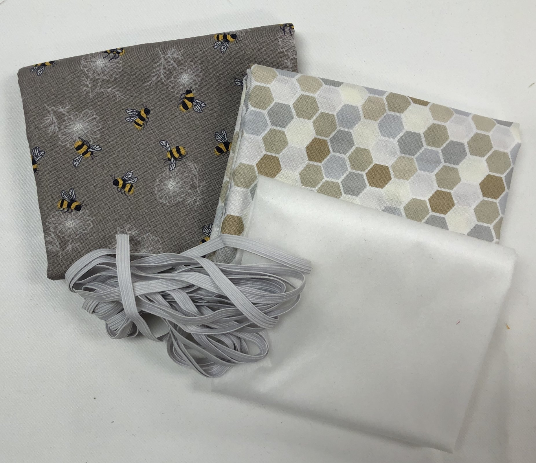 Mask Kit -Bumblebees with Neutral Honeycomb