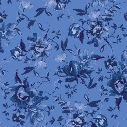 Medium Floral- Blue-Silver Jubilee Collection