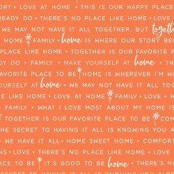 Home, Family Words - Orange