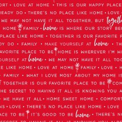 Home, Family Words - Red