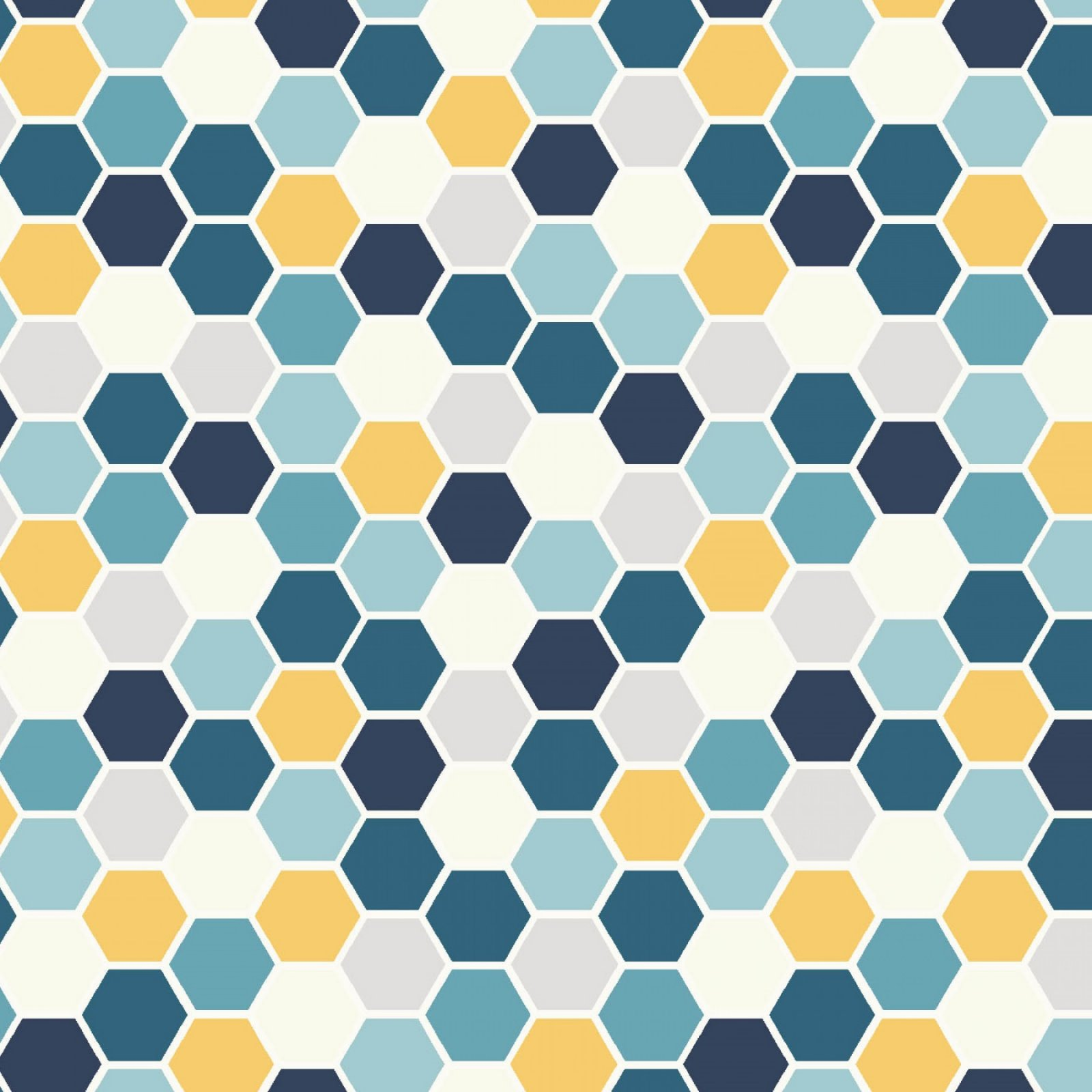 Hexies - Blue and Yellow