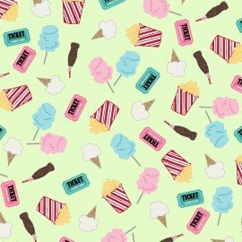Vintage Boardwalk - Fun Snacks - Fresh Green