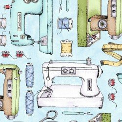 Sewing Machines - Aqua
