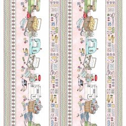 Sewing Table Border - Pink