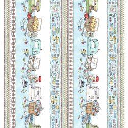 Sewing Table Border - Aqua