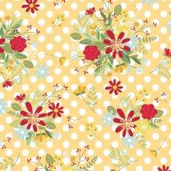 Polka Dot Flower - Yellow