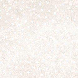 Woolies Flannel - Polka Dots - Ecru