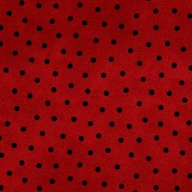 Woolies Flannel - Polka Dots - Red
