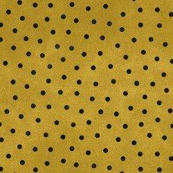 Woolies Flannel - Polka Dots - Yellow