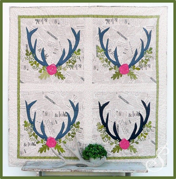 Nature Lover Quilt Patter by Sewn into the Fabric..