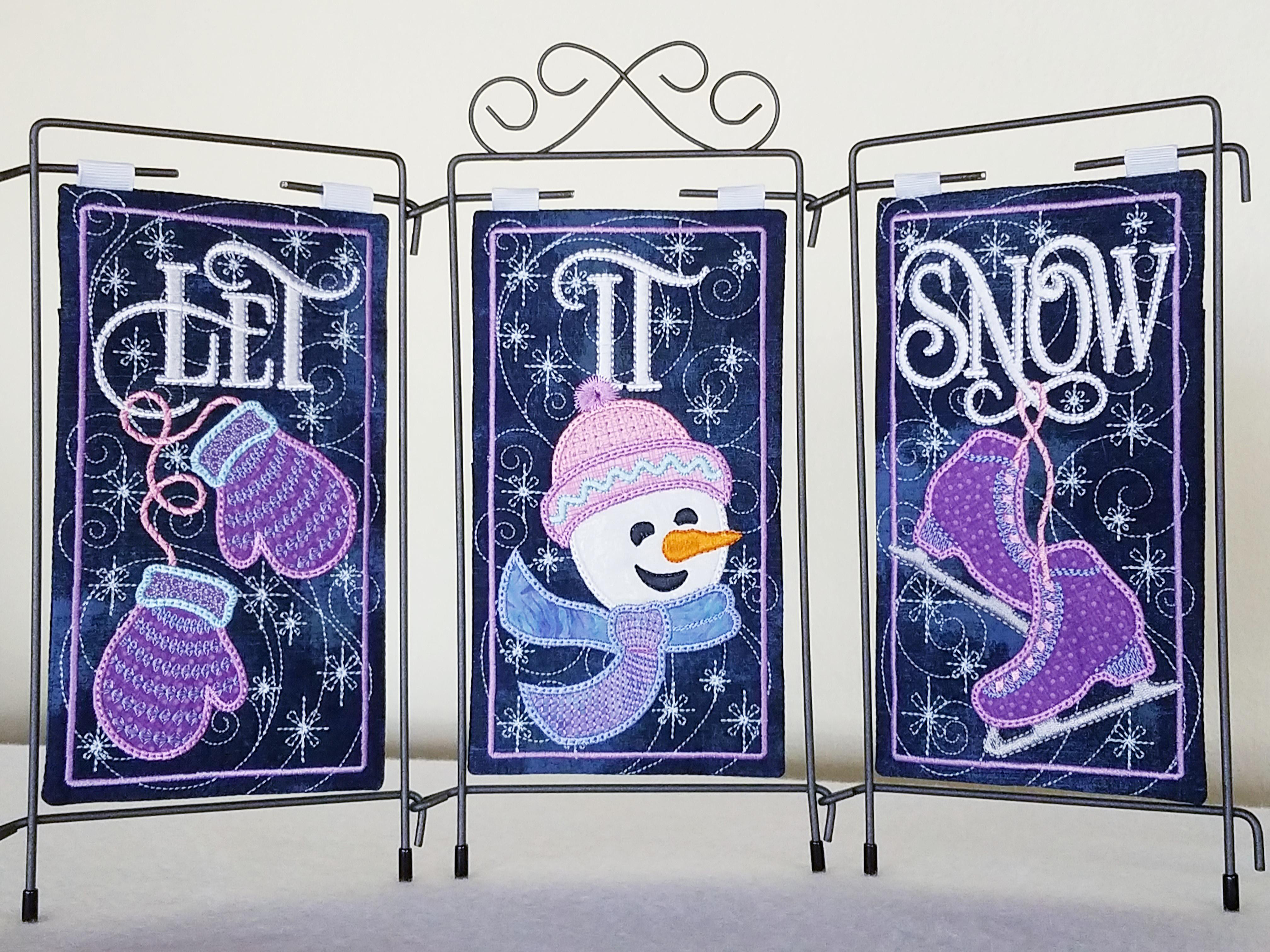 Let It Snow! Tri Pic Design