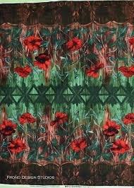 Jardiniere - Poppies Red