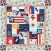 Red White and Bloom Fabric Kit only