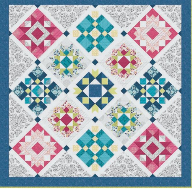 Spring Sampler - Block of the Month Quilt Pattern