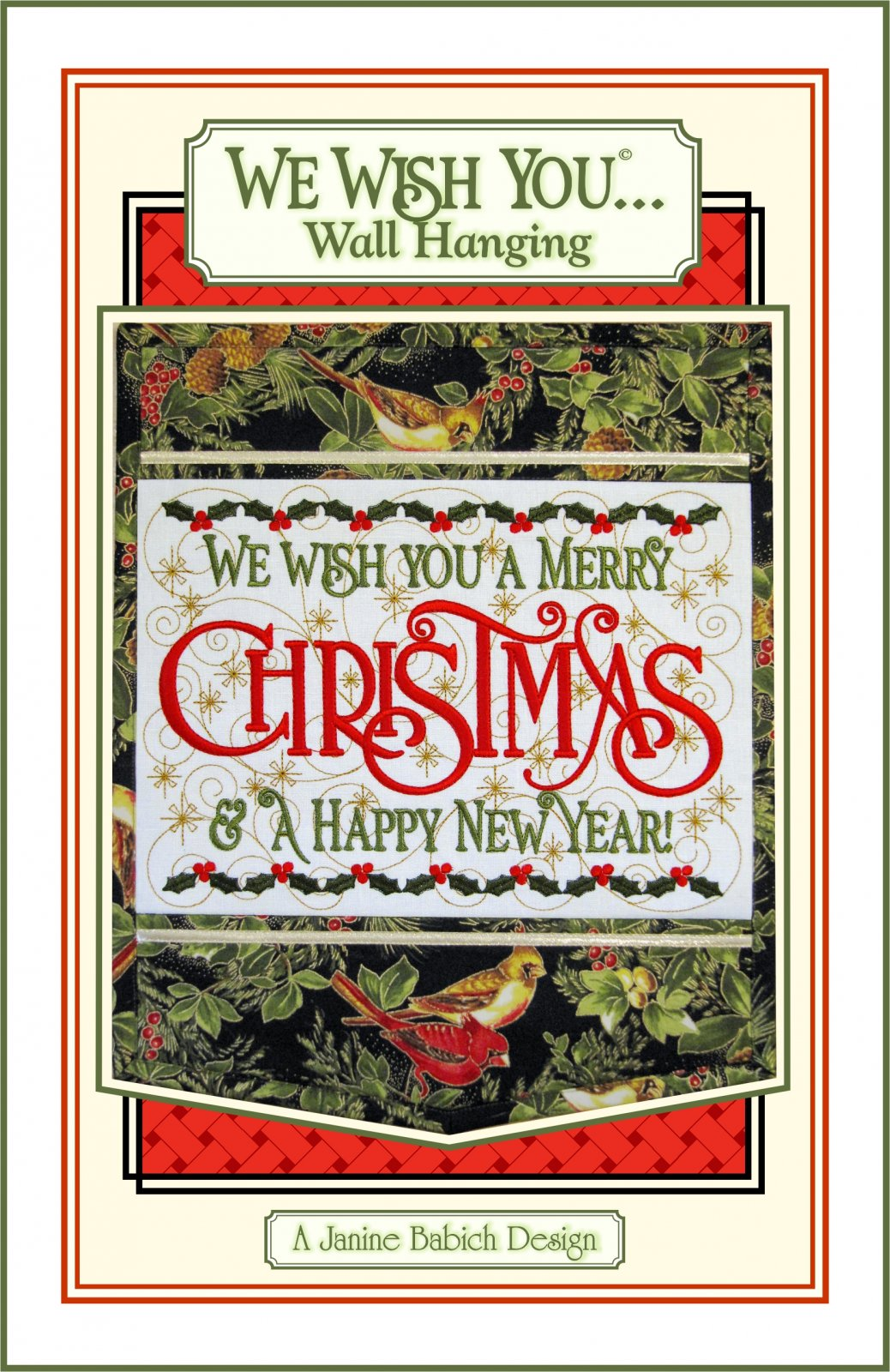 We Wish You A Merry Christmas - Wall Hanging