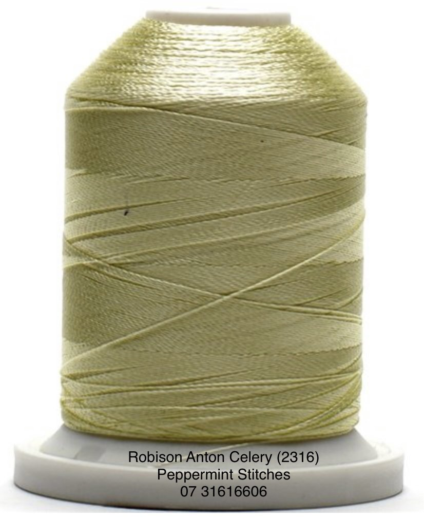 Robison Anton CELERY (2316) Rayon Machine Embroidery Thread 40wt 1000m