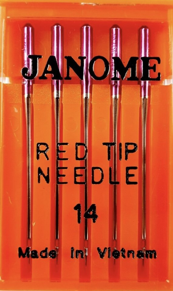 Janome Needles Red Tip Size 14 pkt of 5